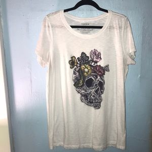 White Snake, Skull and Flower T-shirt